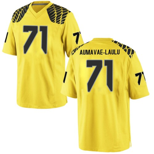 Men's Nike Malaesala Aumavae-Laulu Oregon Ducks Game Gold Football College Jersey