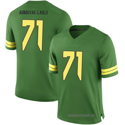 Men's Nike Malaesala Aumavae-Laulu Oregon Ducks Game Green Football College Jersey