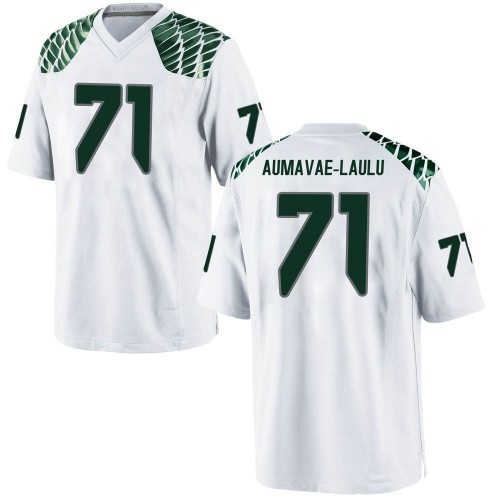 Men's Nike Malaesala Aumavae-Laulu Oregon Ducks Game White Football College Jersey