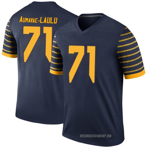 Men's Nike Malaesala Aumavae-Laulu Oregon Ducks Legend Navy Football College Jersey
