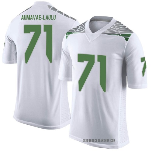 Men's Nike Malaesala Aumavae-Laulu Oregon Ducks Limited White Football College Jersey