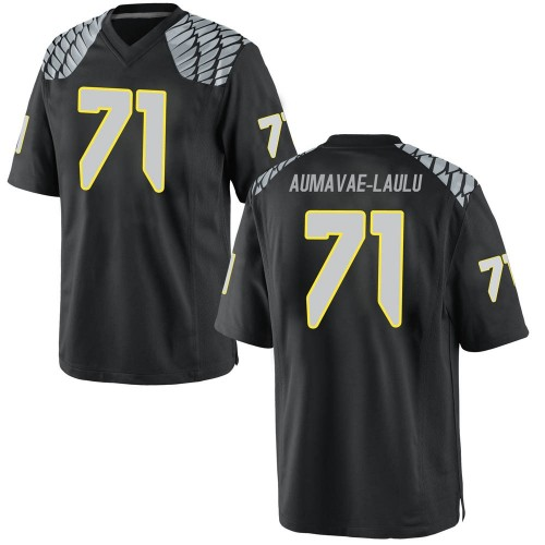 Men's Nike Malaesala Aumavae-Laulu Oregon Ducks Replica Black Football College Jersey