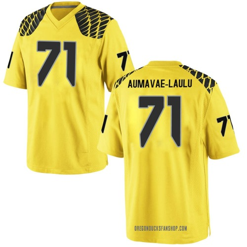 Men's Nike Malaesala Aumavae-Laulu Oregon Ducks Replica Gold Football College Jersey