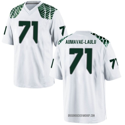 Men's Nike Malaesala Aumavae-Laulu Oregon Ducks Replica White Football College Jersey
