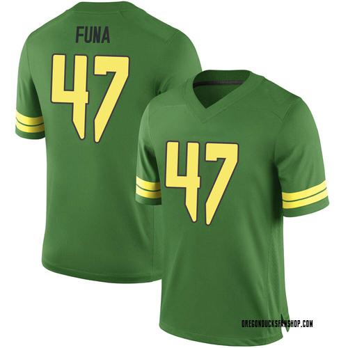 Men's Nike Mase Funa Oregon Ducks Game Green Football College Jersey