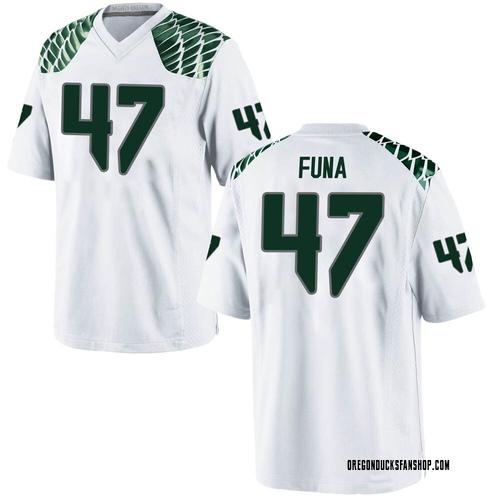 Men's Nike Mase Funa Oregon Ducks Game White Football College Jersey