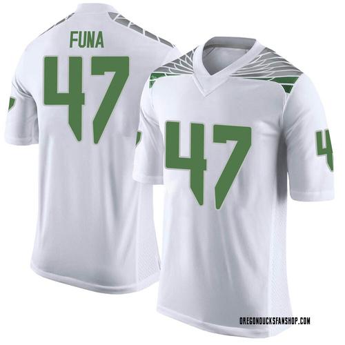 Men's Nike Mase Funa Oregon Ducks Limited White Football College Jersey
