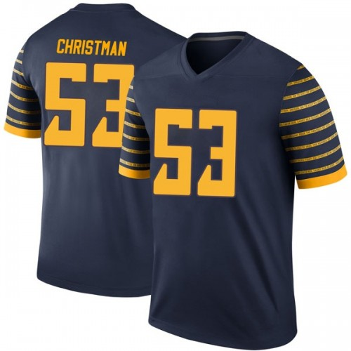 Men's Nike Matt Christman Oregon Ducks Legend Navy Football College Jersey