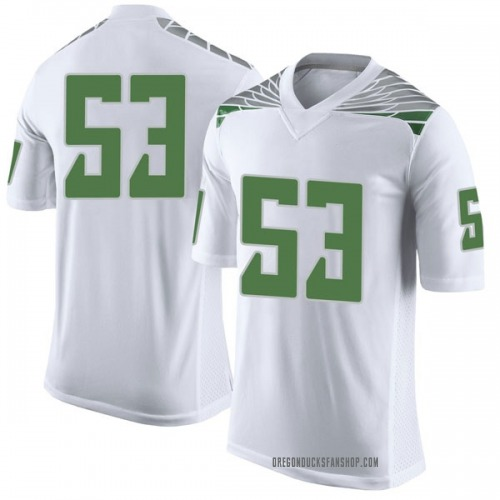 Men's Nike Matt Christman Oregon Ducks Limited White Football College Jersey