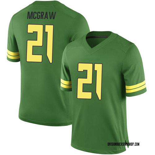 Men's Nike Mattrell McGraw Oregon Ducks Game Green Football College Jersey