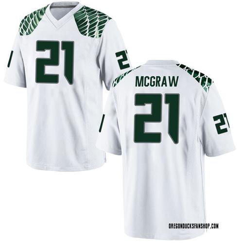 Men's Nike Mattrell McGraw Oregon Ducks Game White Football College Jersey