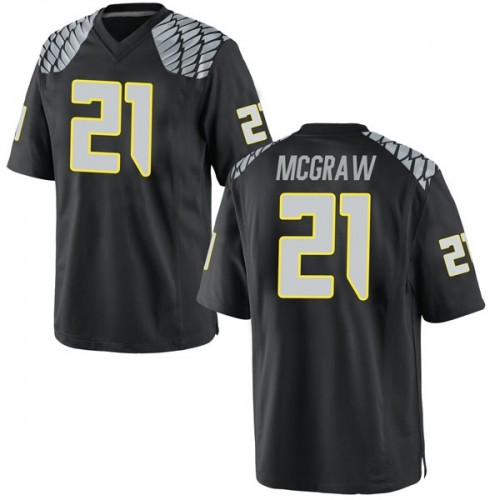 Men's Nike Mattrell McGraw Oregon Ducks Replica Black Football College Jersey