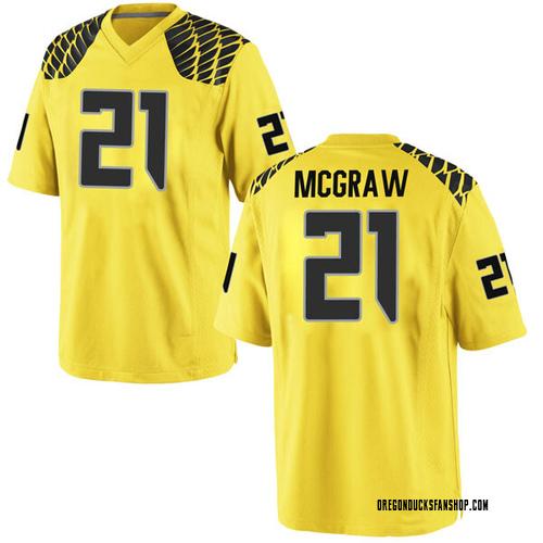 Men's Nike Mattrell McGraw Oregon Ducks Replica Gold Football College Jersey