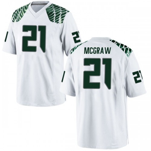 Men's Nike Mattrell McGraw Oregon Ducks Replica White Football College Jersey