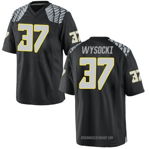 Men's Nike Max Wysocki Oregon Ducks Replica Black Football College Jersey