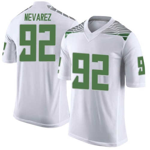 Men's Nike Miguel Nevarez Oregon Ducks Limited White Football College Jersey