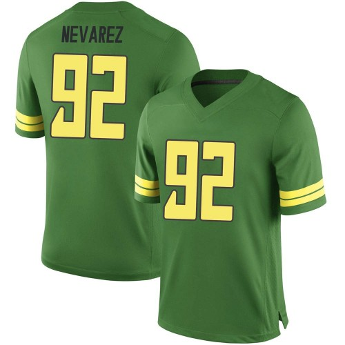 Men's Nike Miguel Nevarez Oregon Ducks Replica Green Football College Jersey