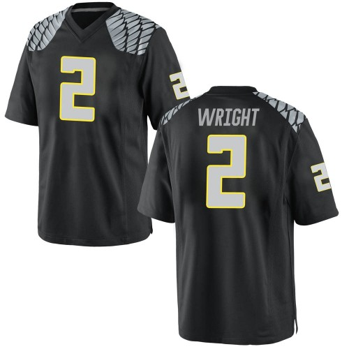 Men's Nike Mykael Wright Oregon Ducks Game Black Football College Jersey