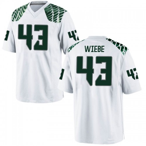 Men's Nike Nick Wiebe Oregon Ducks Replica White Football College Jersey