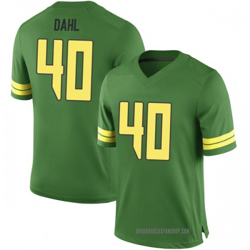 Men's Nike Noah Dahl Oregon Ducks Game Green Football College Jersey