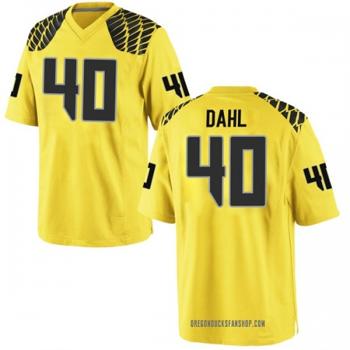 Men's Nike Noah Dahl Oregon Ducks Replica Gold Football College Jersey