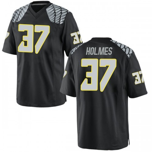 Men's Nike Noah Holmes Oregon Ducks Game Black Football College Jersey