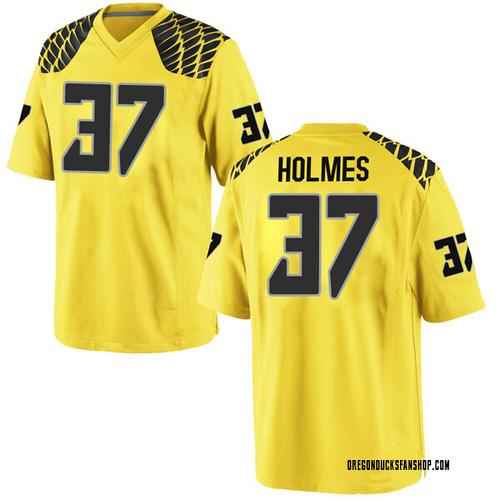 Men's Nike Noah Holmes Oregon Ducks Game Gold Football College Jersey