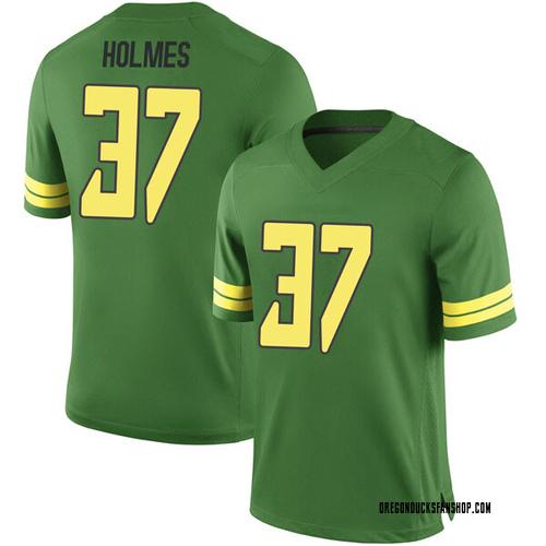 Men's Nike Noah Holmes Oregon Ducks Game Green Football College Jersey