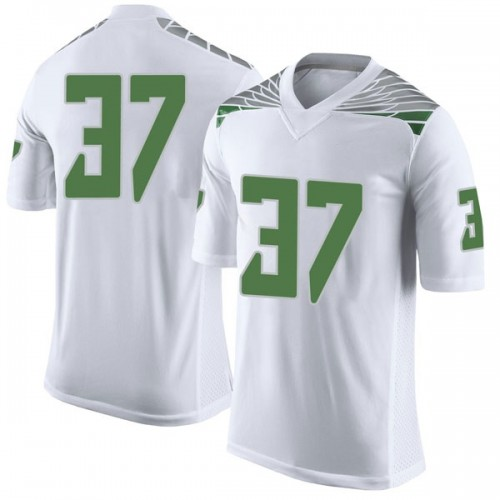 Men's Nike Noah Holmes Oregon Ducks Limited White Football College Jersey