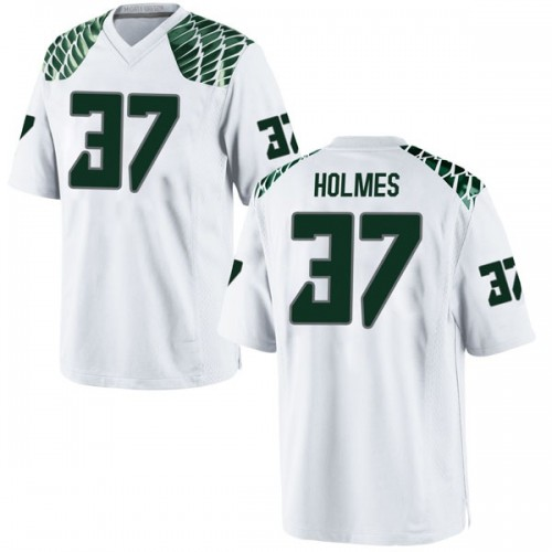 Men's Nike Noah Holmes Oregon Ducks Replica White Football College Jersey
