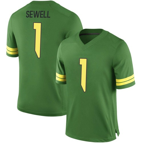Men's Nike Noah Sewell Oregon Ducks Replica Green Football College Jersey