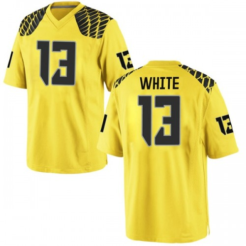 Men's Nike Paul White Oregon Ducks Game Gold Football College Jersey