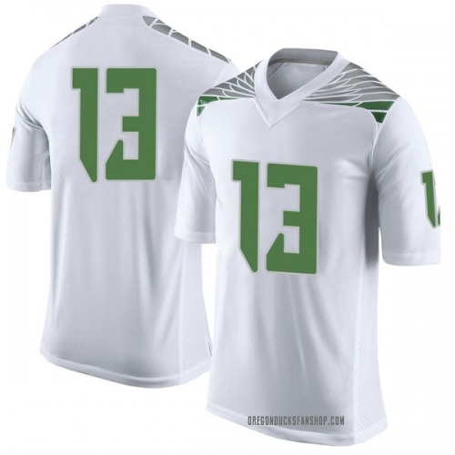 Men's Nike Paul White Oregon Ducks Limited White Football College Jersey