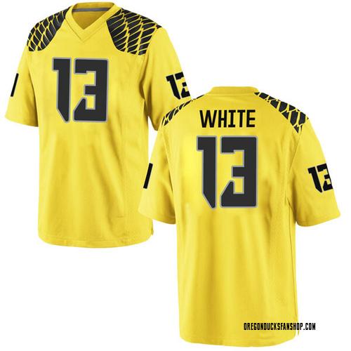 Men's Nike Paul White Oregon Ducks Replica Gold Football College Jersey