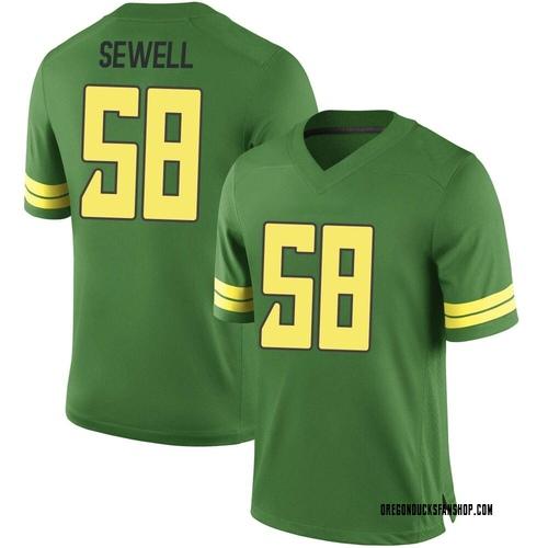 Men's Nike Penei Sewell Oregon Ducks Game Green Football College Jersey