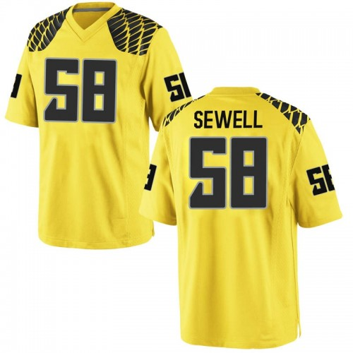 Men's Nike Penei Sewell Oregon Ducks Replica Gold Football College Jersey