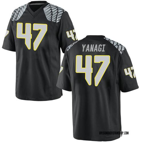 Men's Nike Peyton Yanagi Oregon Ducks Game Black Football College Jersey