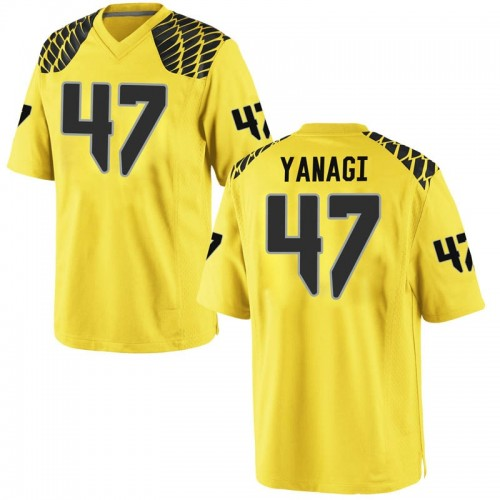 Men's Nike Peyton Yanagi Oregon Ducks Game Gold Football College Jersey