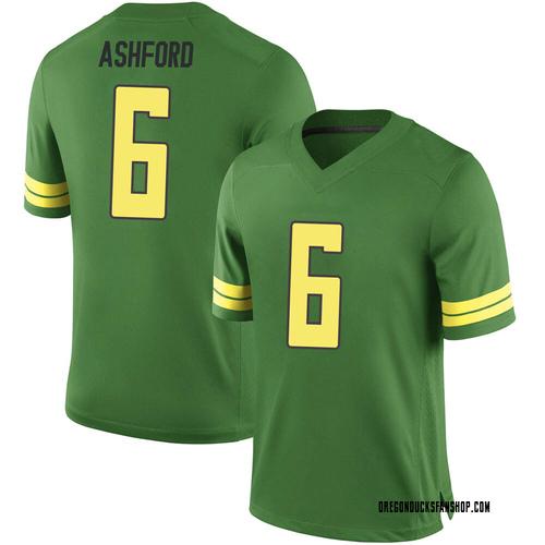 Men's Nike Robby Ashford Oregon Ducks Game Green Football College Jersey