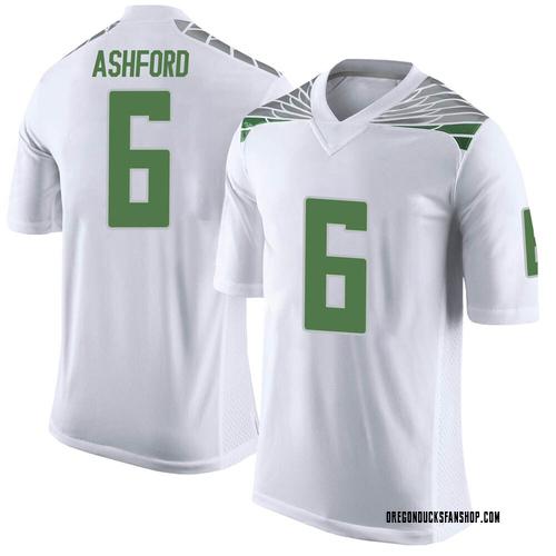 Men's Nike Robby Ashford Oregon Ducks Limited White Football College Jersey
