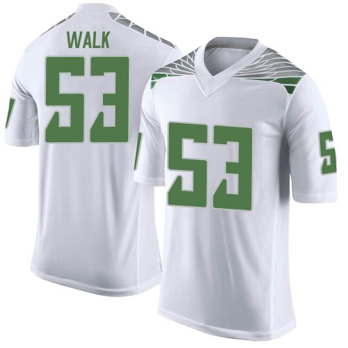 Men's Nike Ryan Walk Oregon Ducks Limited White Football College Jersey