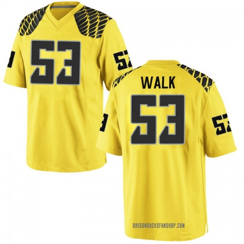 Men's Nike Ryan Walk Oregon Ducks Replica Gold Football College Jersey