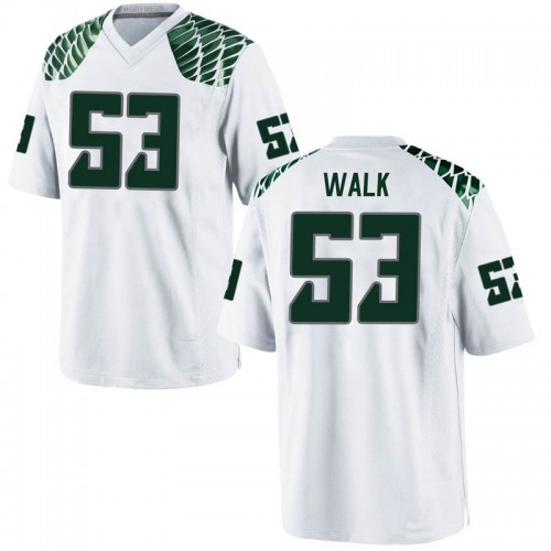 Men's Nike Ryan Walk Oregon Ducks Replica White Football College Jersey