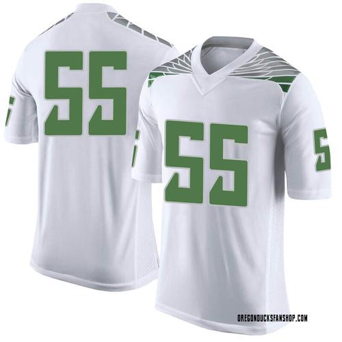 Men's Nike Sampson Niu Oregon Ducks Limited White Football College Jersey