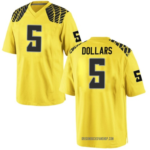Men's Nike Sean Dollars Oregon Ducks Replica Gold Football College Jersey