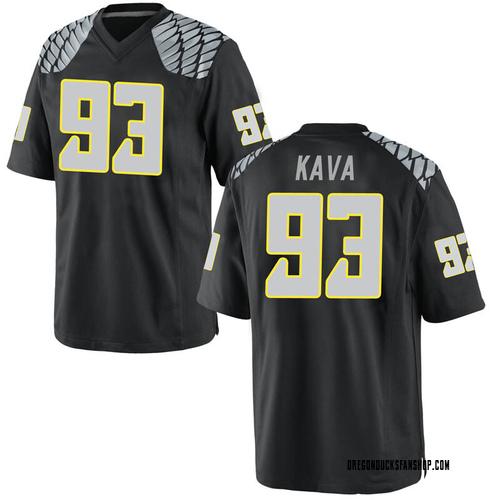 Men's Nike Sione Kava Oregon Ducks Game Black Football College Jersey