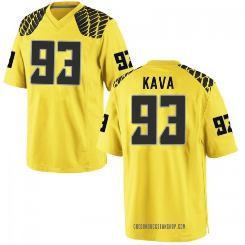 Men's Nike Sione Kava Oregon Ducks Game Gold Football College Jersey