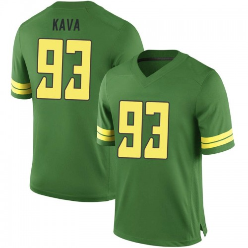 Men's Nike Sione Kava Oregon Ducks Game Green Football College Jersey