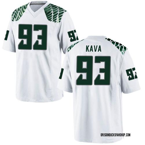 Men's Nike Sione Kava Oregon Ducks Game White Football College Jersey