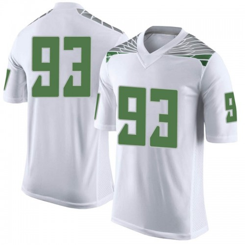 Men's Nike Sione Kava Oregon Ducks Limited White Football College Jersey